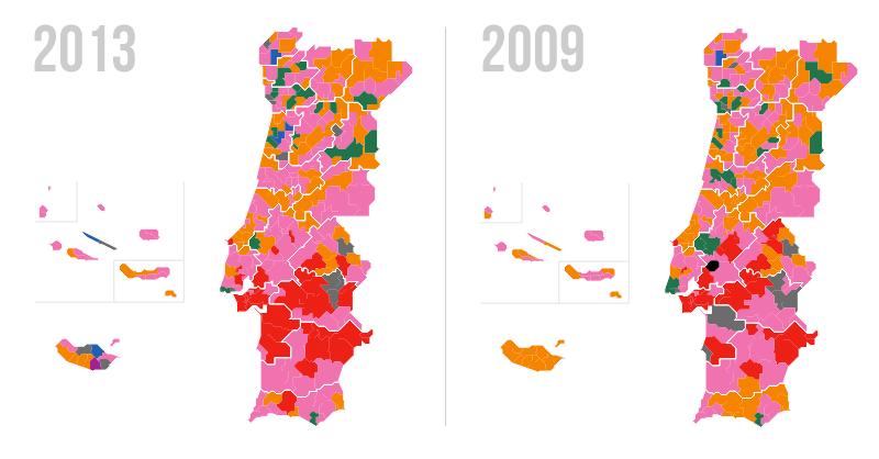 Resultados electorales PCP 2013